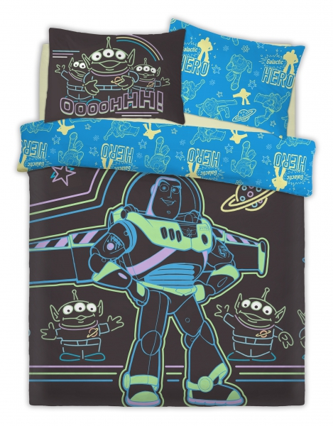 Disney Toy Srory Intergalactic Panel Double Bed Duvet Quilt Cover Set