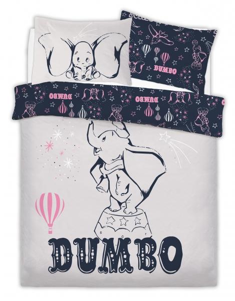 Disney Dumbo Presenting Kids Panel Double Bed Duvet Quilt Cover Set