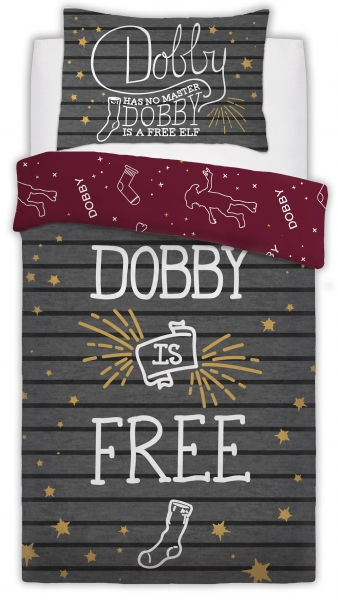 Harry Potter Dobby The Elf Panel Single Bed Duvet Quilt Cover Set