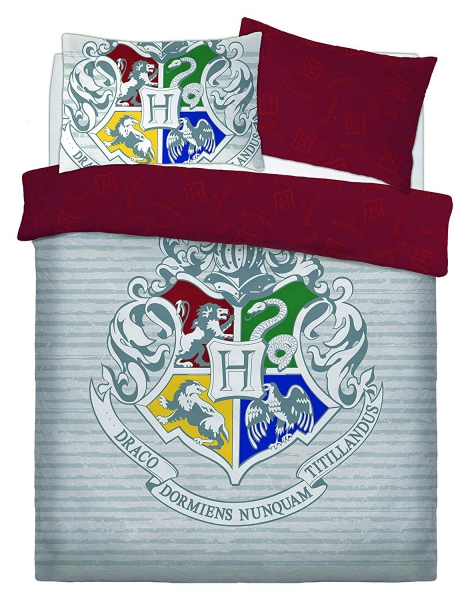 Harry Potter Witchcraft Wizardry Panel King Bed Duvet Quilt Cover Set