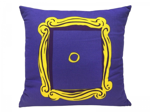 Friends Door Purple Square Shaped Filled Printed Cushion