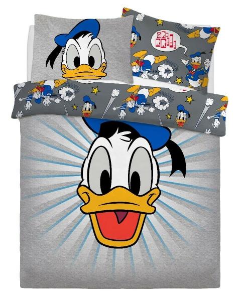 Disney Donald Duck Panel Double Bed Duvet Quilt Cover Set