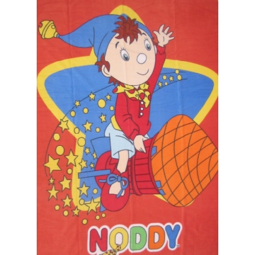 Noddy Panel Fleece Blanket Throw