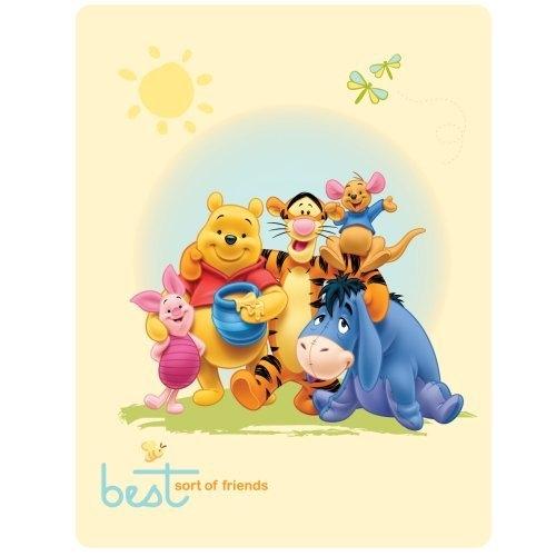 Disney Winnie The Pooh Best Friends Panel Fleece Blanket Throw