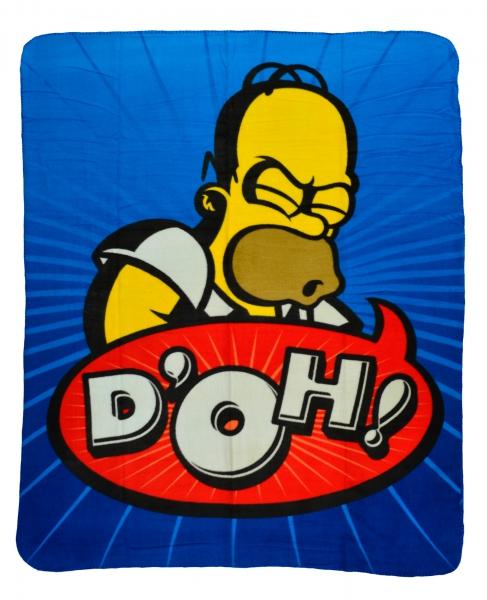 The Simpsons Panel Fleece Blanket Throw