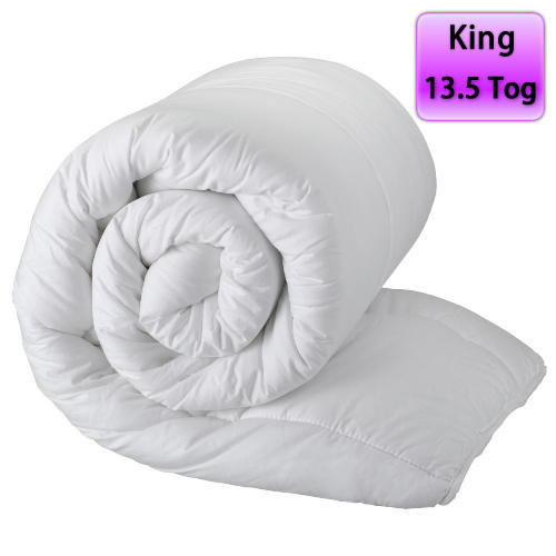 Luxury Hollowfibre Duvet 13.5 Tog Panel King Bed Quilt Cover Set