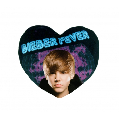 Justin Bieber Fever Heart Shaped Cushion