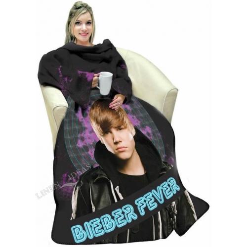 Justin Bieber Adult Cosy Wrap Blanket Sleeved Fleece