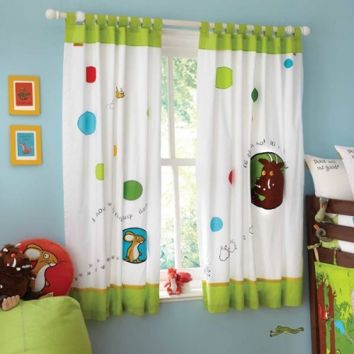 The Gruffalo 'Tab Top Lined' 66 X 54 inch Drop Curtain Pair