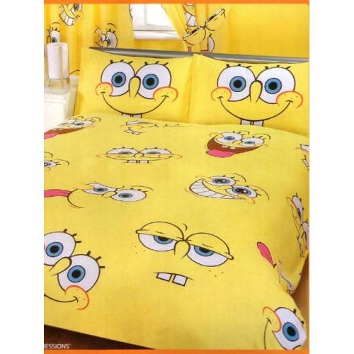 Spongebob Squarepants Expressions Rotary Double Bed Duvet Quilt Cover Set