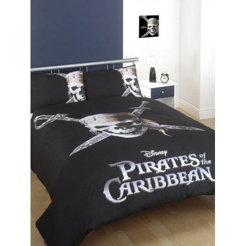 Disney Pirates of The Caribbean Panel Double Bed Duvet Quilt Cover Set