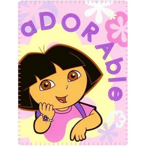 Dora The Explorer Adorable Panel Fleece Blanket Throw