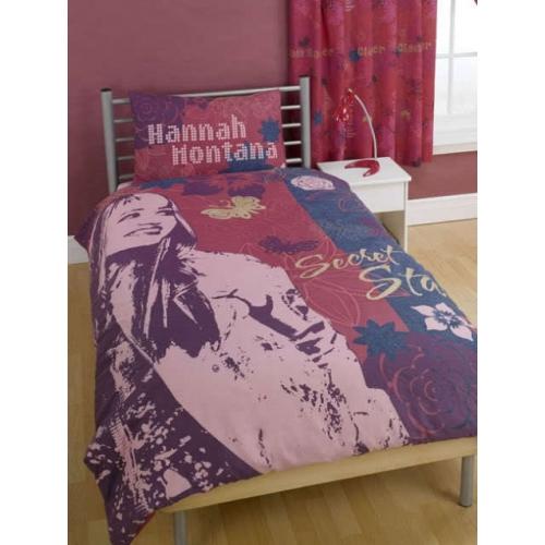 Disney Hannah Montana Secret Star Panel Single Bed Duvet Quilt Cover Set