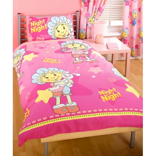 Fifi and The Flowertots Bed Time Rotary Single Duvet Quilt Cover Set