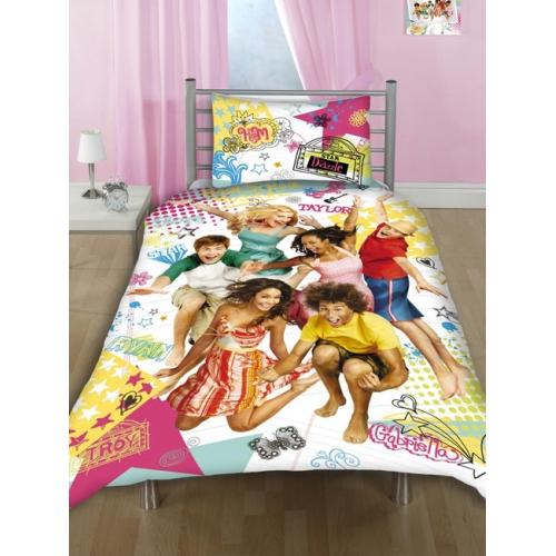 Disney High School Musical Notebook Panel Double Bed Duvet Quilt Cover Set