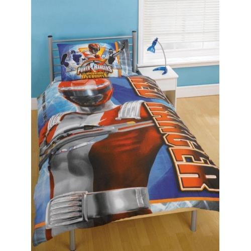 Power Rangers Red Panel Single Bed Duvet Quilt Cover Set