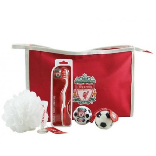 Liverpool Fc Football Washbag Official Gift Set