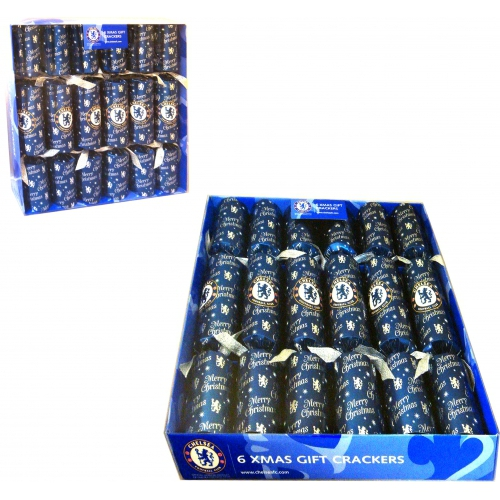 Chelsea Fc Football Luxury Crackers Official Christmas