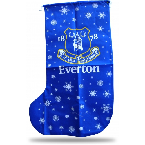 Everton Fc Football Xmas Stocking 1m Official Christmas