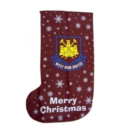 West Ham United Fc Football Xmas Stocking 1m Official Christmas
