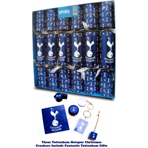 Tottenham Hotspur Fc Football Luxury Crackers Official Christmas