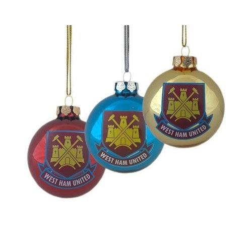 West Ham Untied Fc Football Baubles Official Christmas