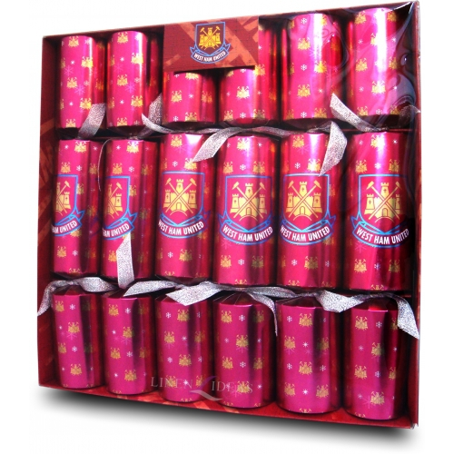 West Ham United Fc Football Luxury Crackers Official Christmas