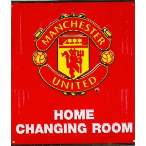 Manchester United Fc Football Home Changing Room Sign Official Board