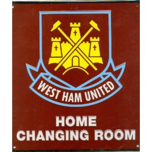 West Ham Fc Football Home Changing Room Sign Official Board