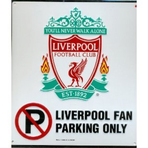 Liverpool Fc Football No Parking Sign Official Board