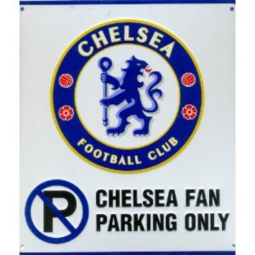 Chelsea Fc Football No Parking Sign Official Board