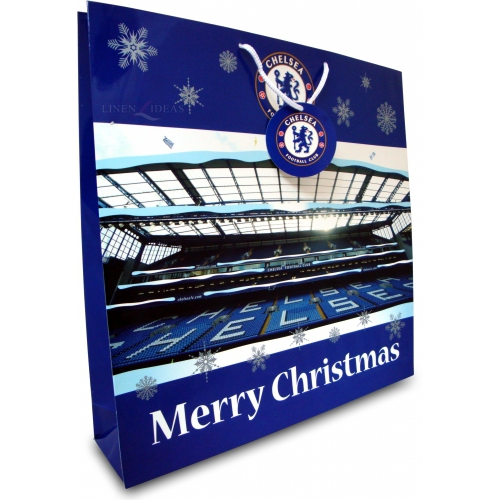 Chelsea Fc Stadium Football Paper Gift Bag Official Christmas