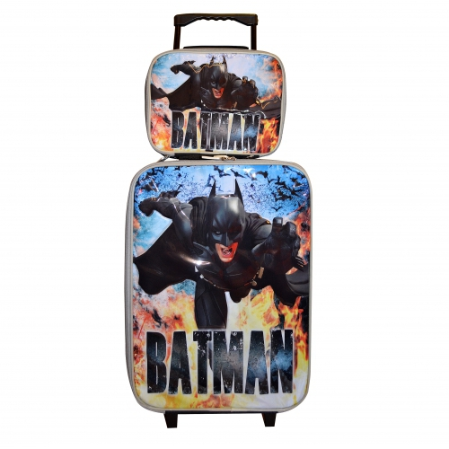 Batman 'The Dark Knight Rises' 2 Piece Suitcase with Lunch Bag Luggage Set