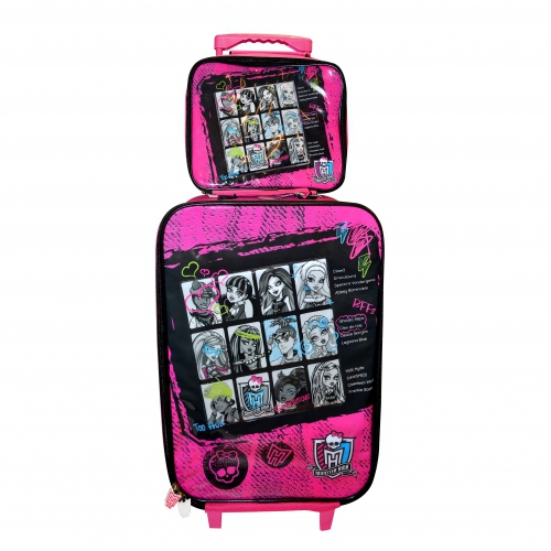 Monster High 'Friends' 2 Piece Suitcase with Lunch Bag Luggage Set