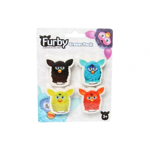 Furby 4 Piece Eraser Set Stationery