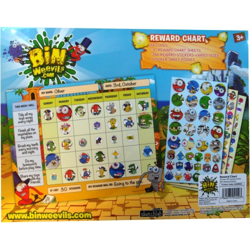 Bin Weevils Reward Chart Stationery