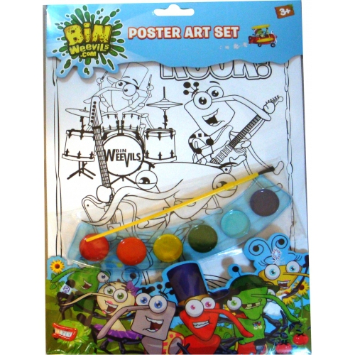 Bin Weevils Poster Colouring Set Stationery