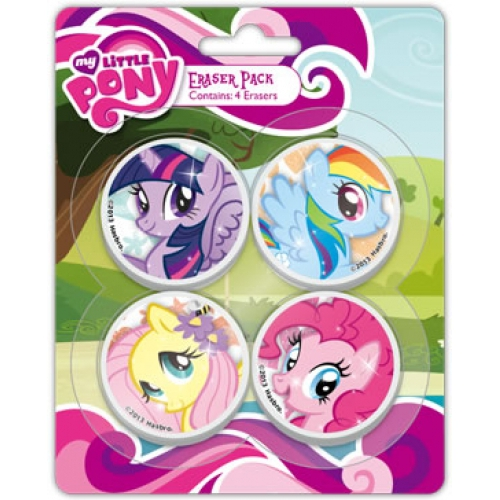 My Little Pony 4 Pack Eraser Set Stationery