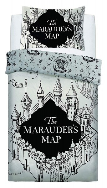 Harry Potter Marauders Map Panel Single Bed Duvet Quilt Cover Set