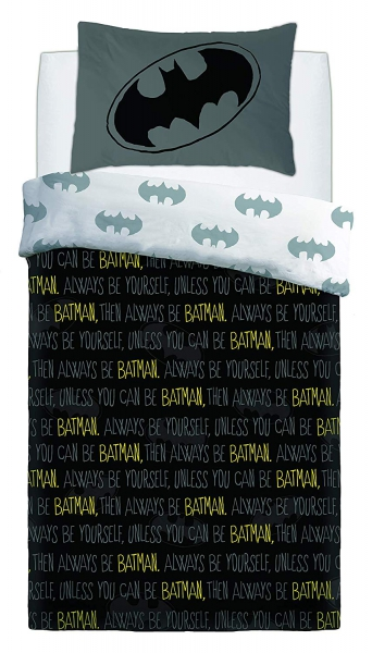 Batman Forever Panel Single Bed Duvet Quilt Cover Set