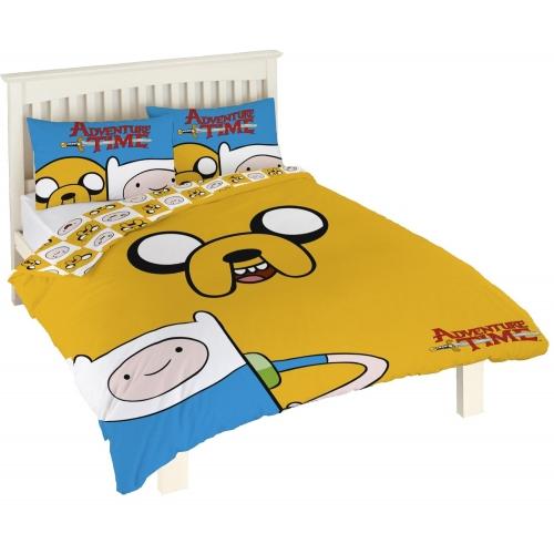 Adventure Time Reversible Panel Double Bed Duvet Quilt Cover Set