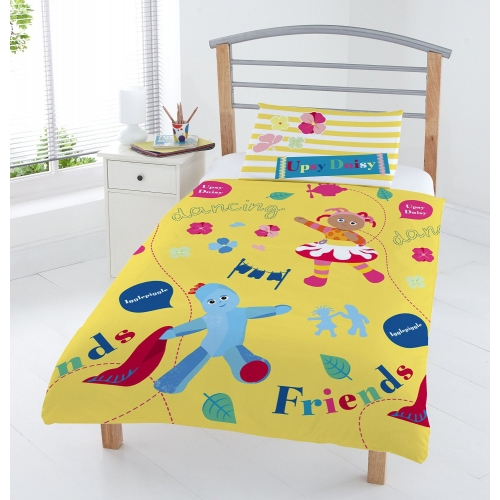 In The Night Garden 'Upsy Daisy & Igglepiggle' Rotary Junior Cot Bed Duvet Quilt Cover Set