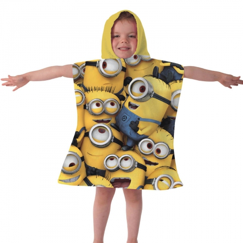 Despicable Me 'All Over Minions' Poncho Towel