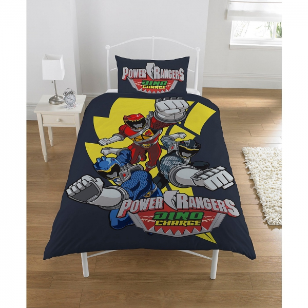 Power Rangers 'Dino Charge' Panel Single Bed Duvet Quilt Cover Set