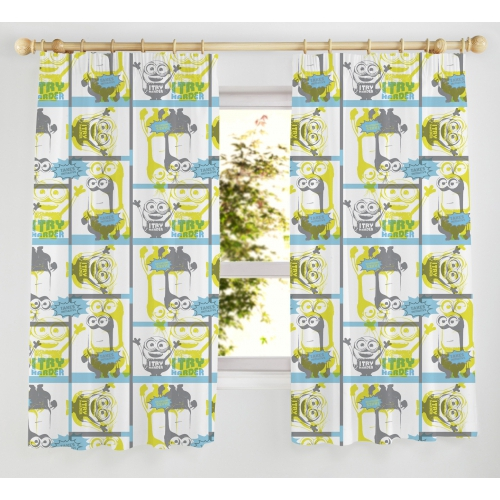 Despicable Me Minions 'Try Harder' 66 X 72 inch Drop Curtain Pair