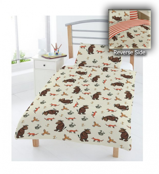 The Gruffalo 'All Is Quiet' Reversible Rotary Junior Cot Bed Duvet Quilt Cover Set