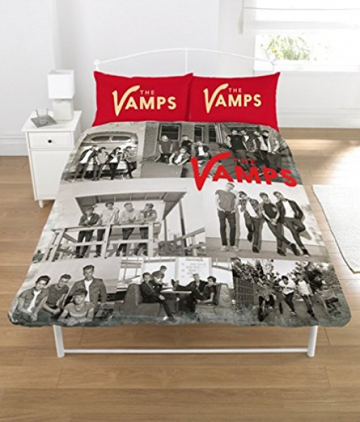 The Vamps Panel Double Bed Duvet Quilt Cover Set