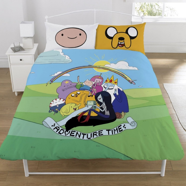 Adventure Time 'Group' Panel Double Bed Duvet Quilt Cover Set