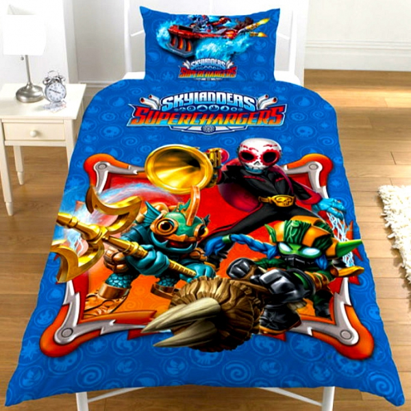 Skylanders 'Superchargers' Glow In The Dark Panel Single Bed Duvet Quilt Cover Set
