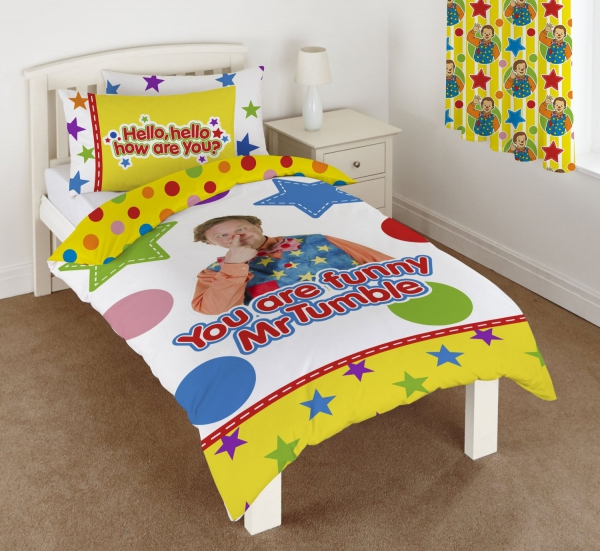 Something Special Mr Tumble Panel Single Bed Duvet Quilt Cover Set